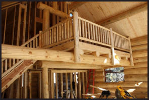Indoor Log Railings